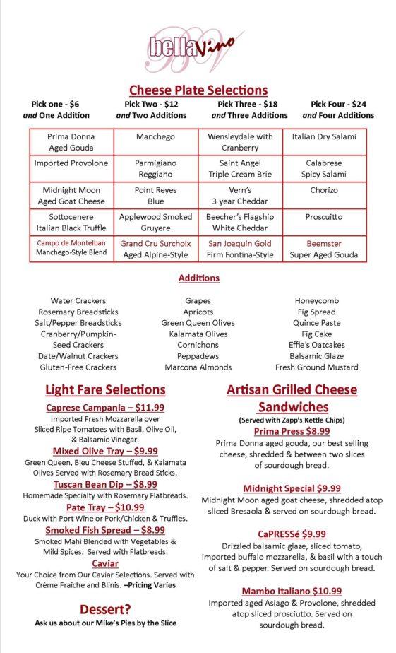 New Food Menu 8-25-18